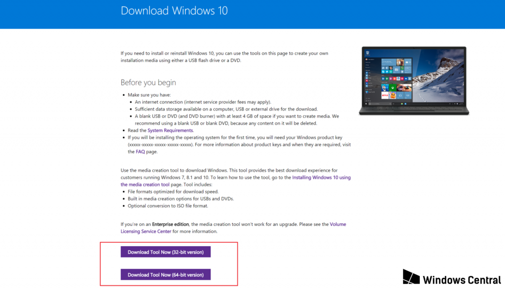 download the Windows 10 ISO